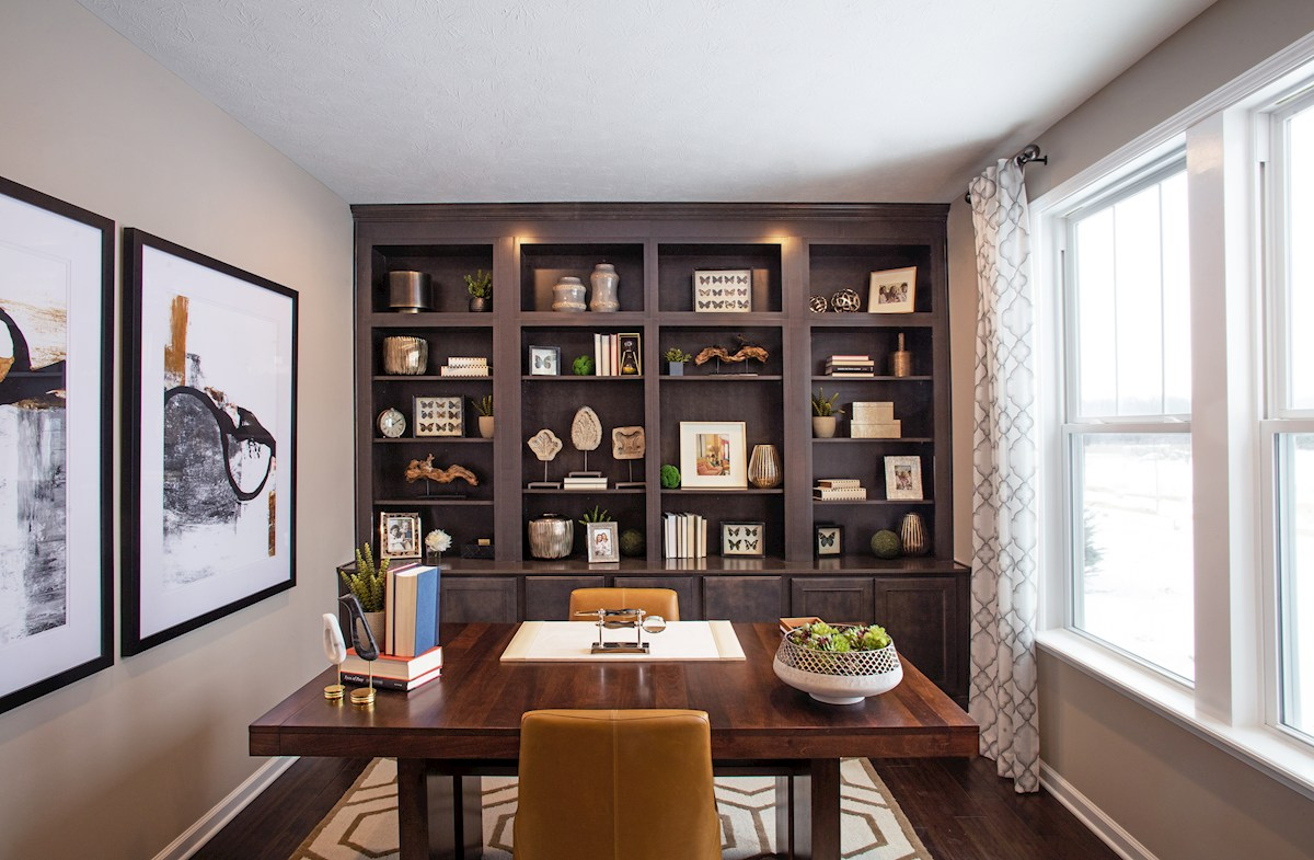 Quiet home office in the Whitley plan