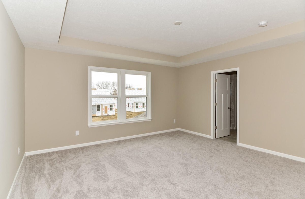 Porter quick move-in Spacious master bedroom with trey ceiling