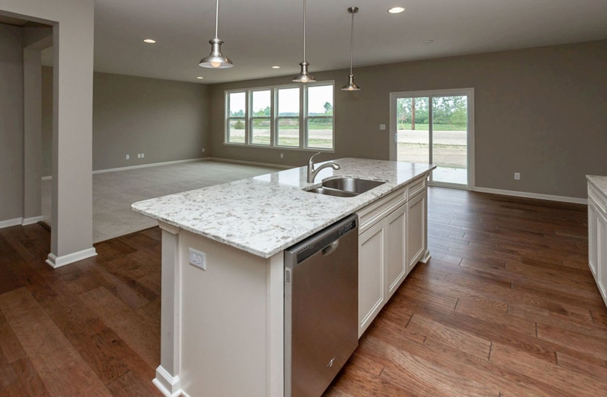 Summerland Park Morgan open kitchen with spacious island