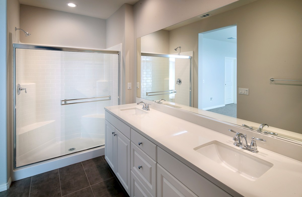 Bayside Landing Compass Compass master bath includes large shower and dual sinks