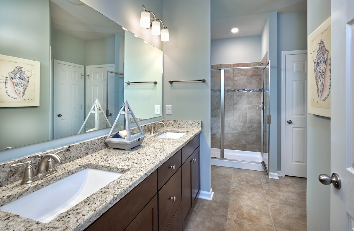 master bathroom features walk-in shower