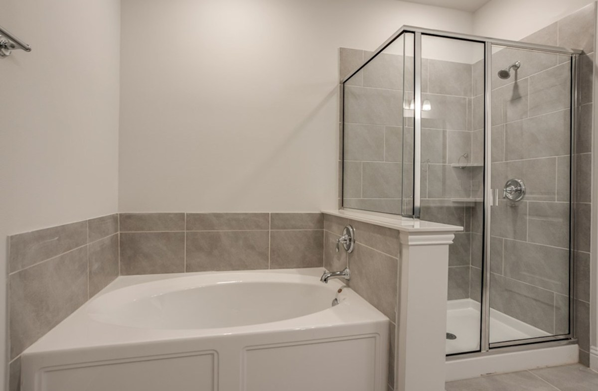 Clifton quick move-in master bath with separate tub and shower