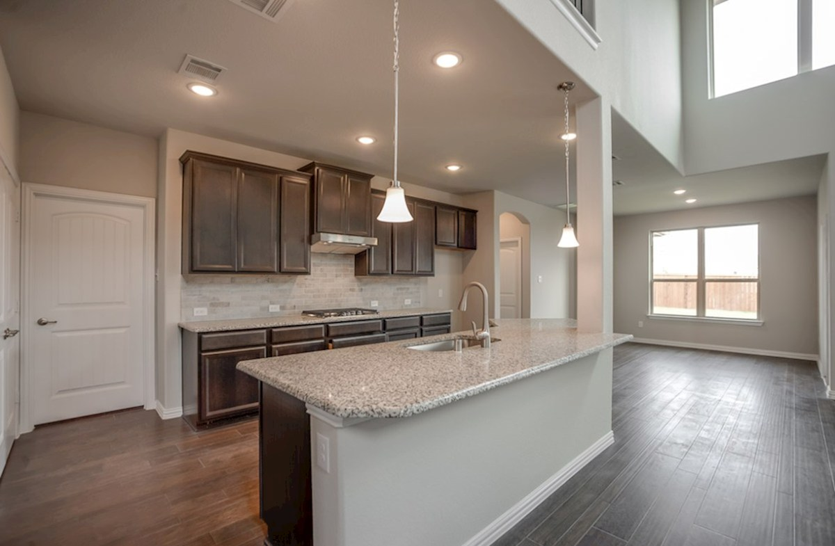 Brookhaven quick move-in open kitchen next to breakfast nook