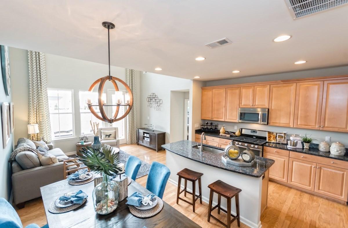 Heron's Ridge at Bayside Bethany Bethany Kitchen, Dining area, and Family Room