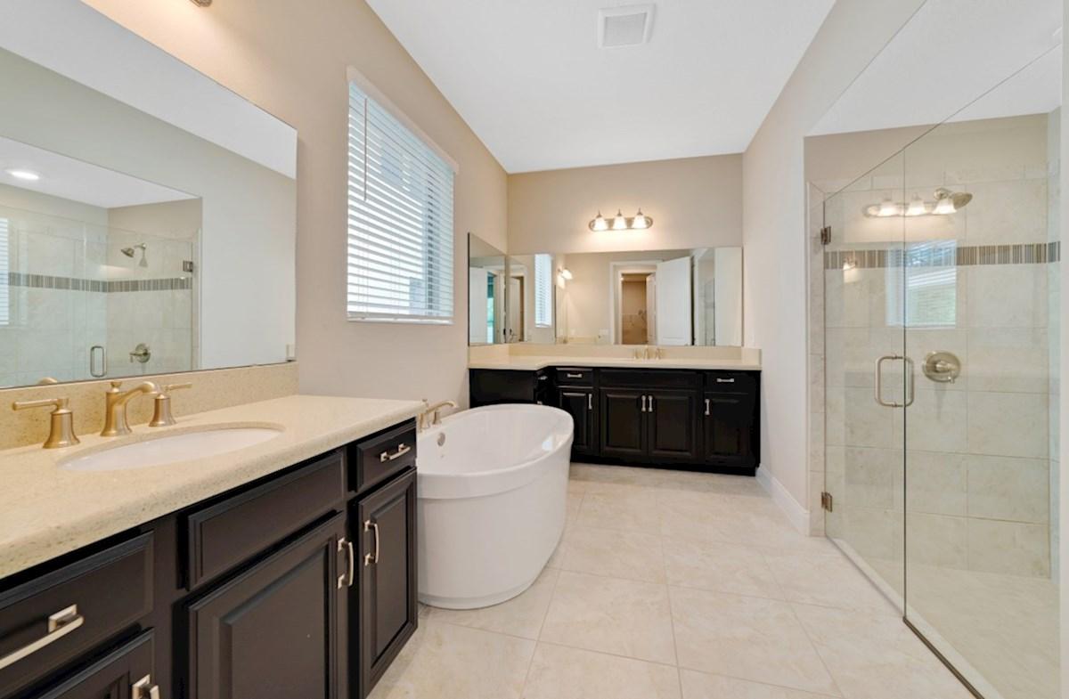 Windermere Isle Logan II spa-inspired master bath