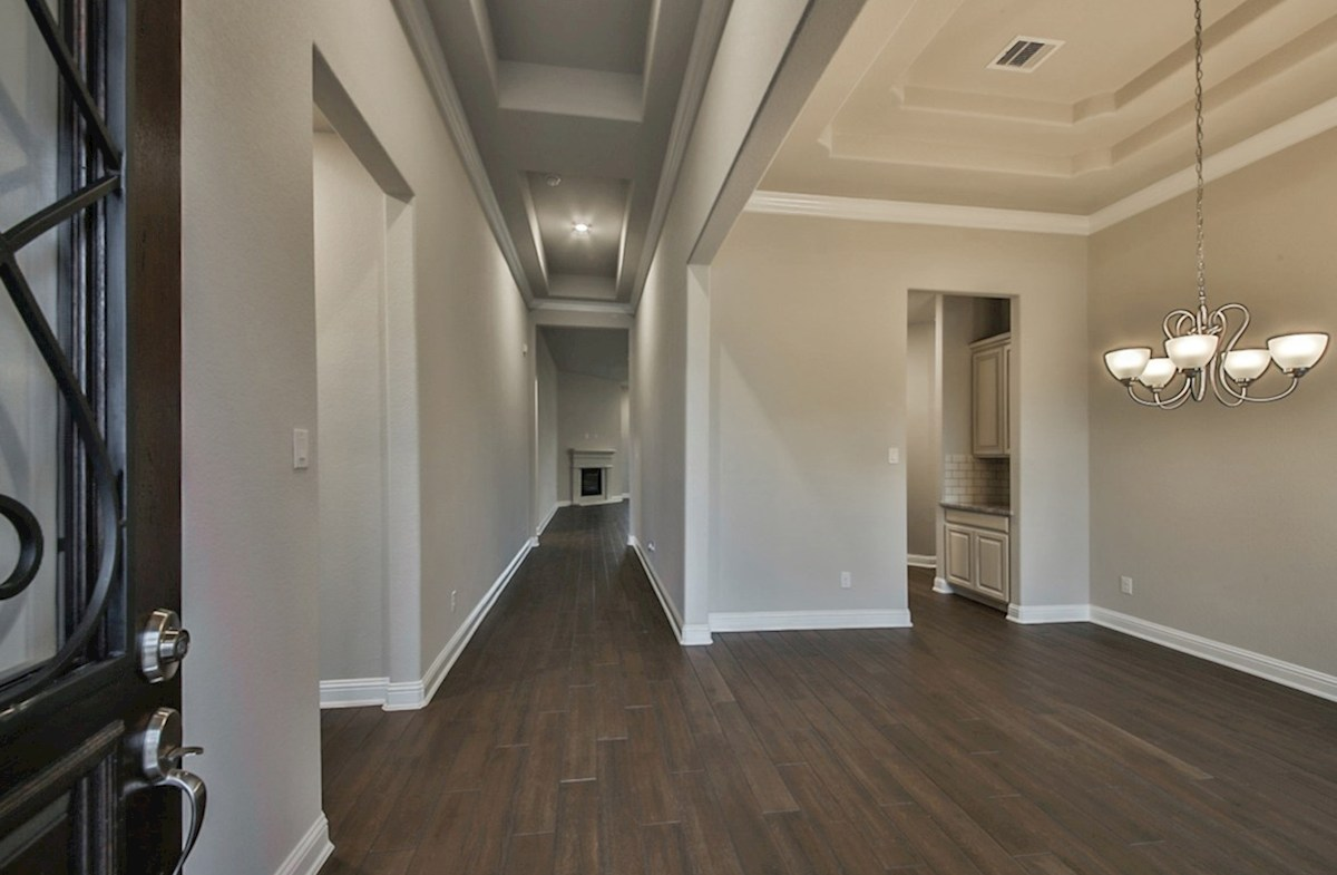 Fredericksburg quick move-in elegant foyer with tile flooring
