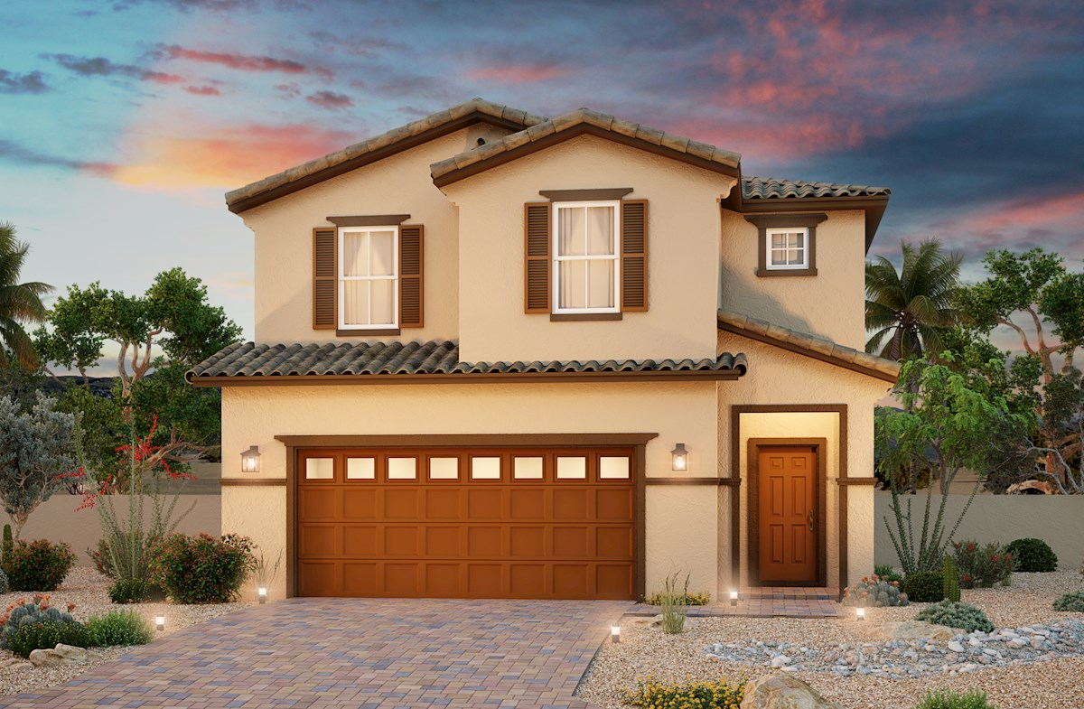 Two-story Spanish Colonial home with 2-car garage