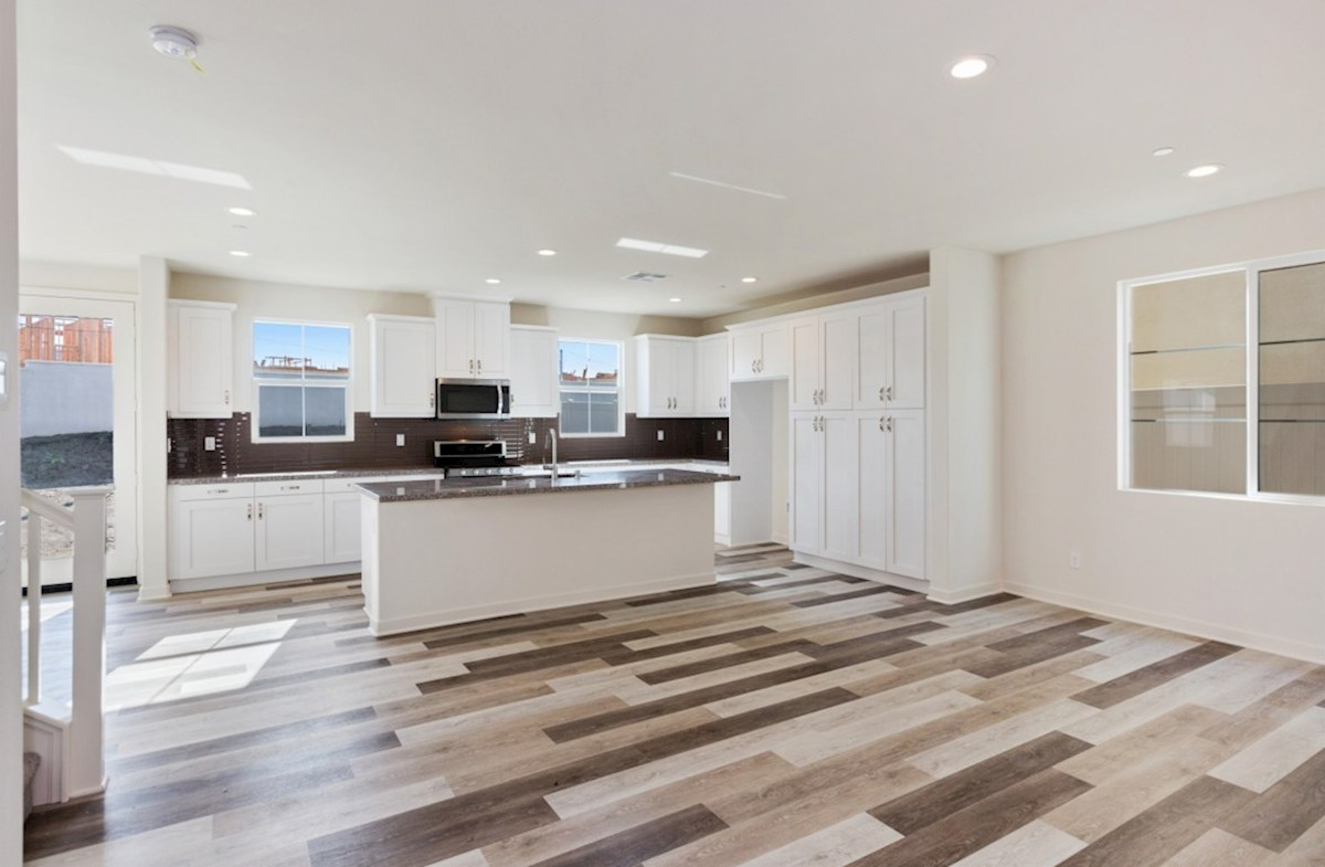 Peony quick move-in hardwood flooring throughout