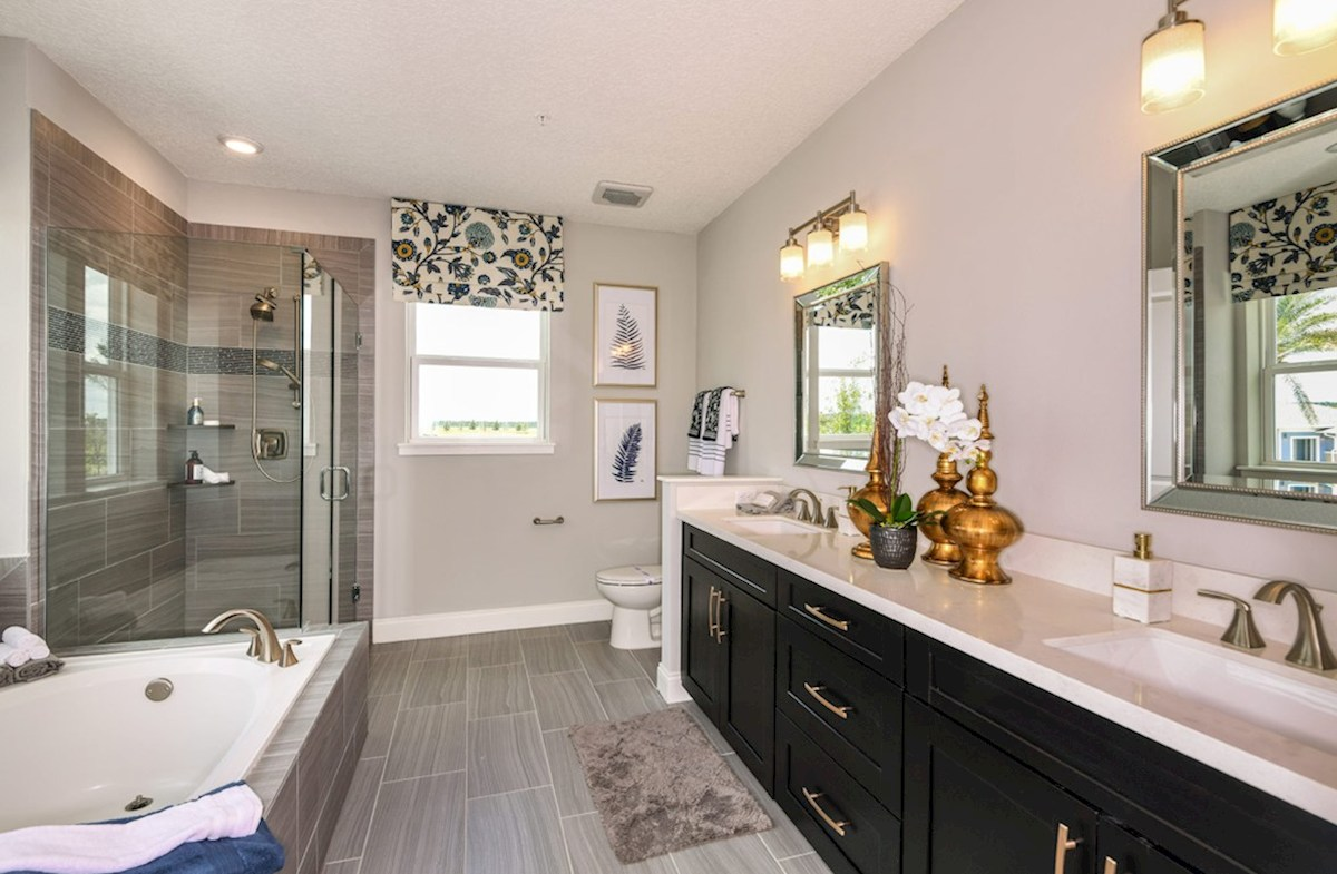 Gatherings® of Lake Nona Dogwood spa-inspired master bath