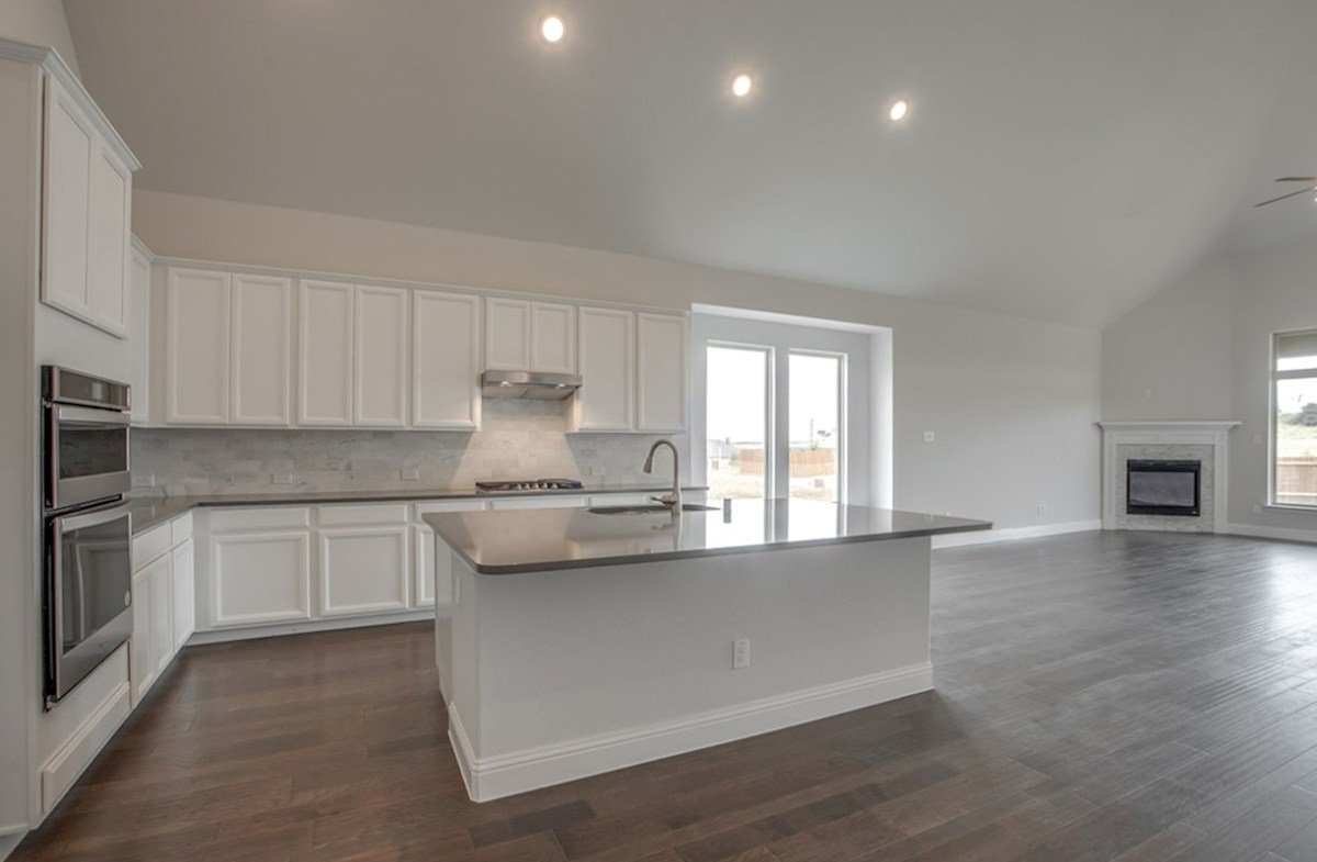 Brighton quick move-in open kitchen and great room with wood floors