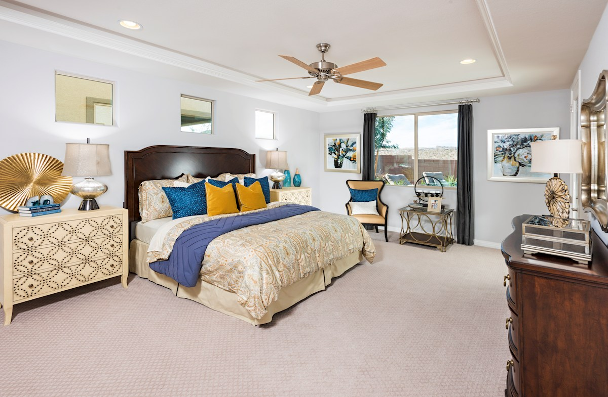 Park Collection at Inspirada Biscayne Stunning Master Bedroom with Tray Ceiling