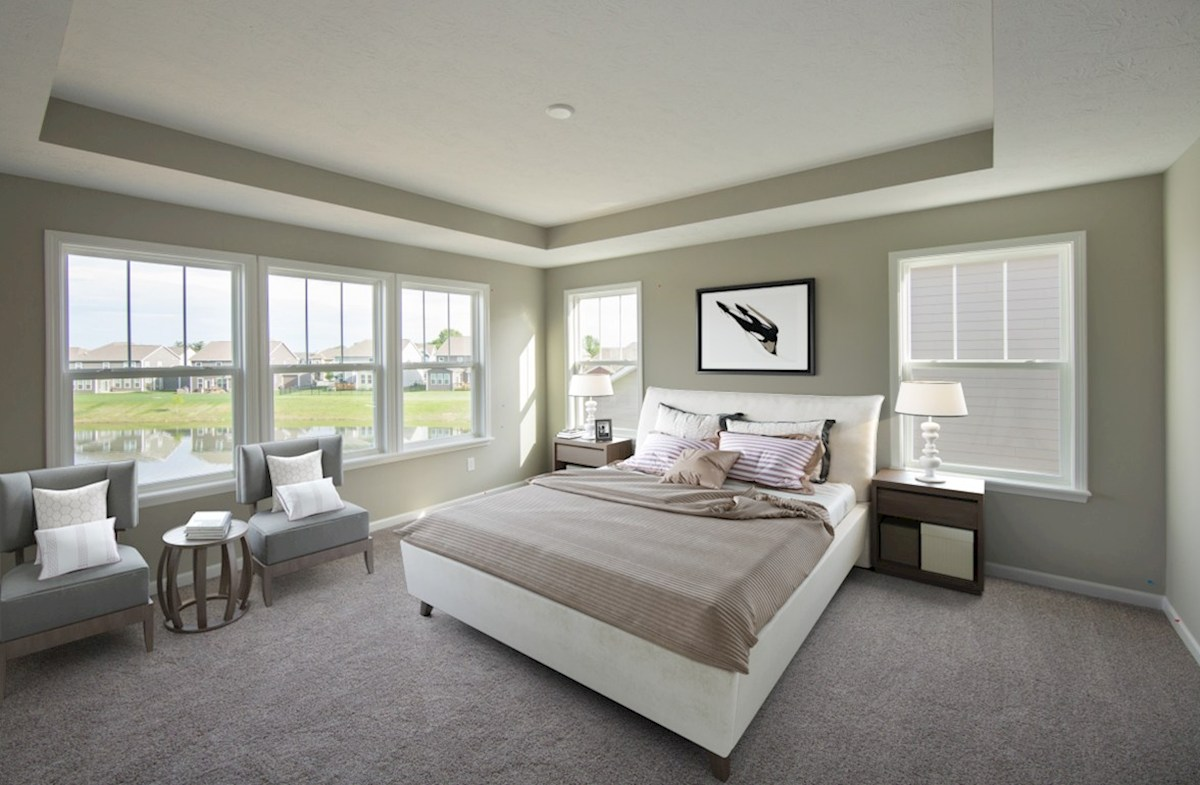 Heritage at Vermillion Porter Unwind in this stunning master bedroom