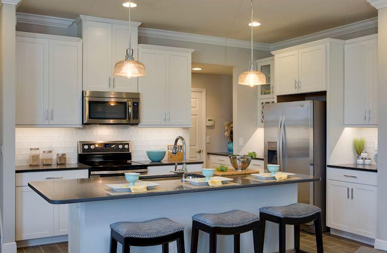 Long Lake Ranch Townhomes Erie Erie model kitchen
