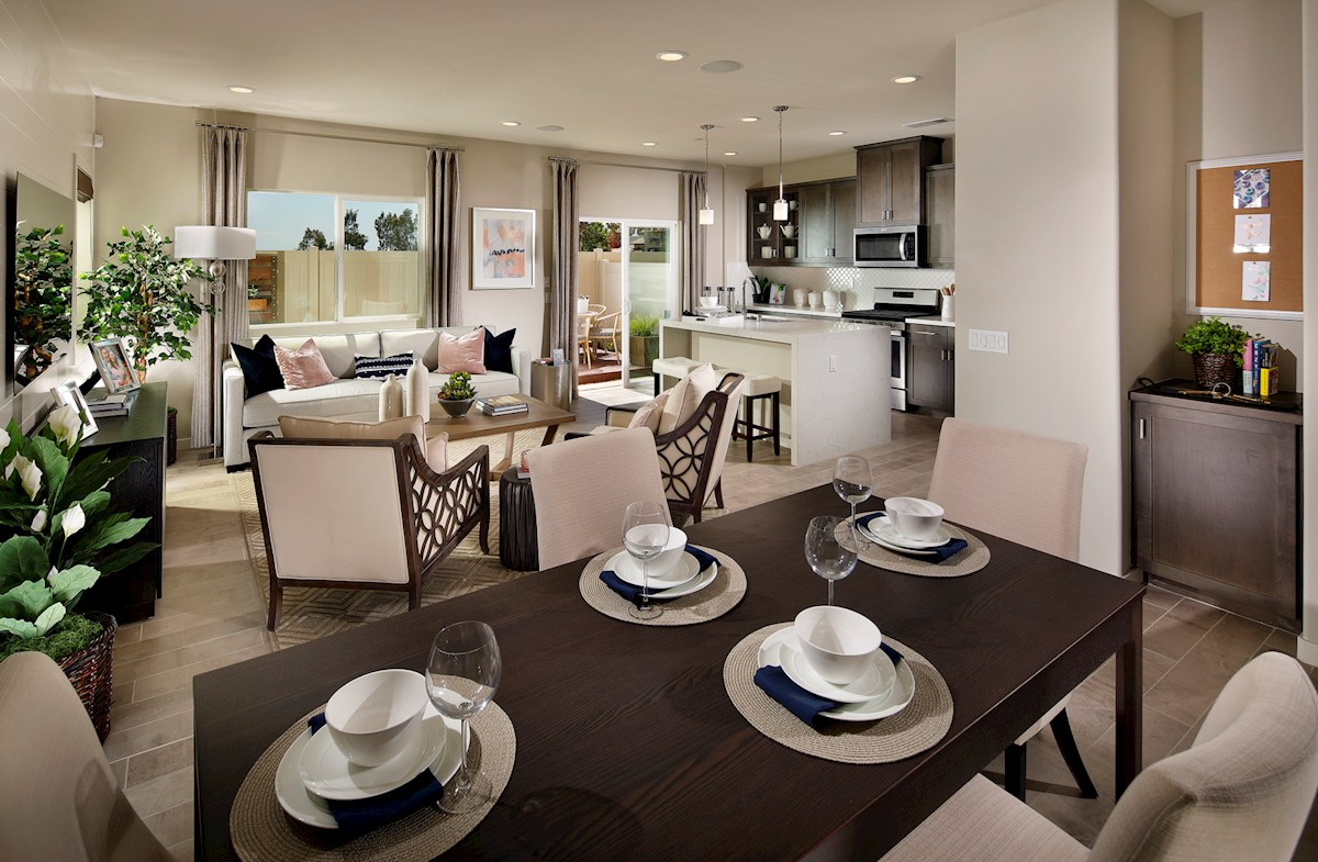 enjoy casual dining in open-concept kitchen