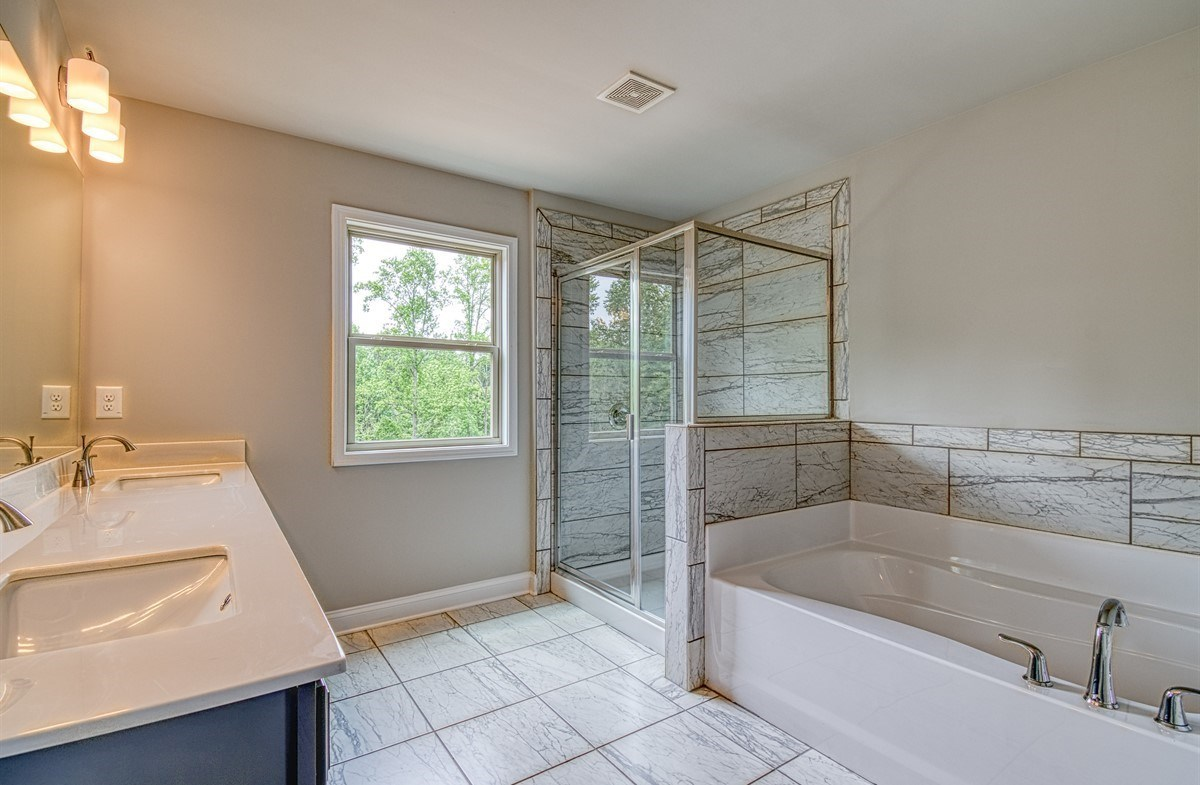 Lexington quick move-in Master Bathroom with dual sinks