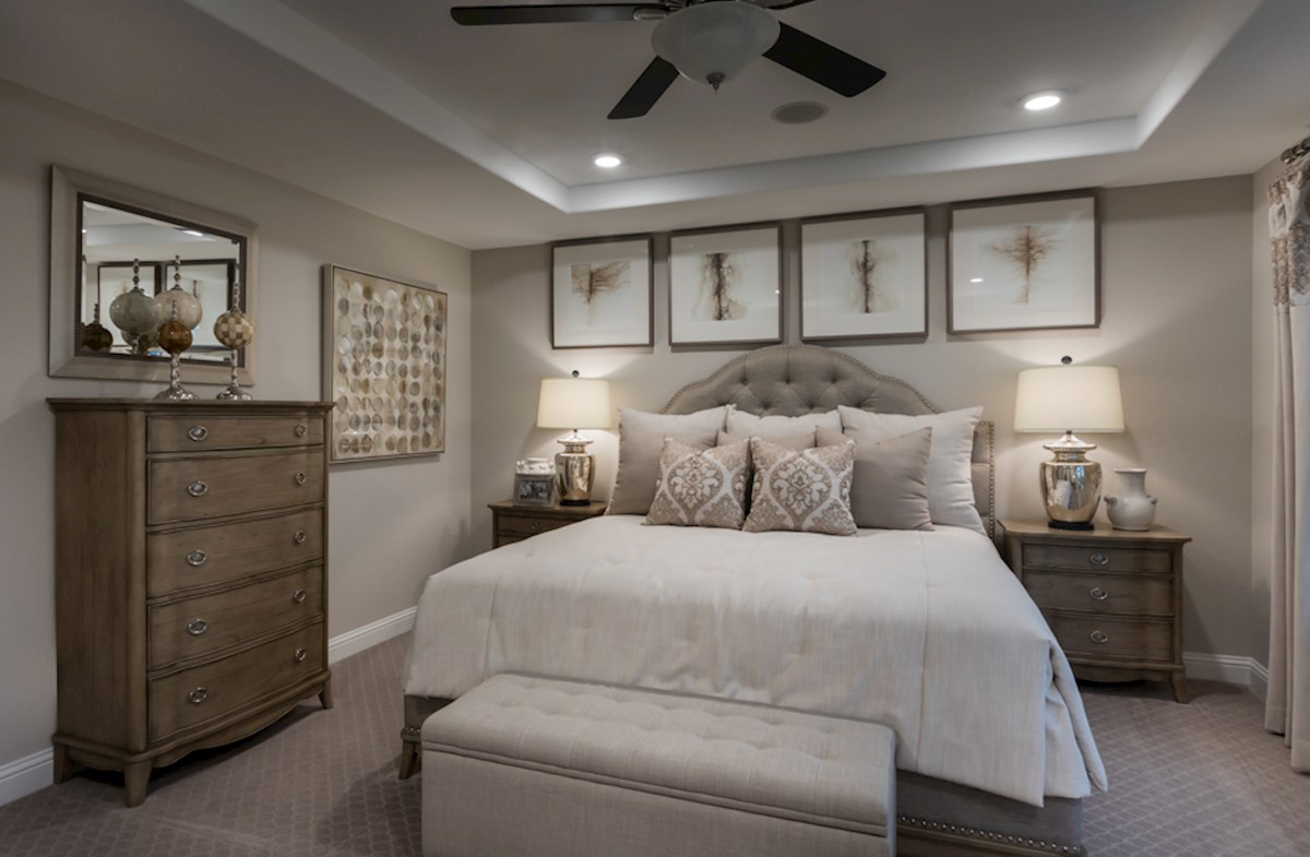 The Woodlands Townhomes Sycamore peaceful master bedroom