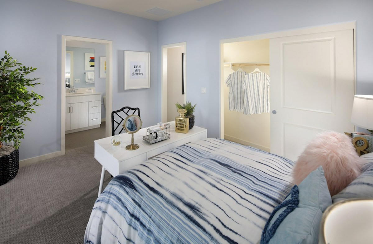 Barcelona Opal Secondary bedrooms and closets are designed with optimal size to fit the needs of your family and guests.