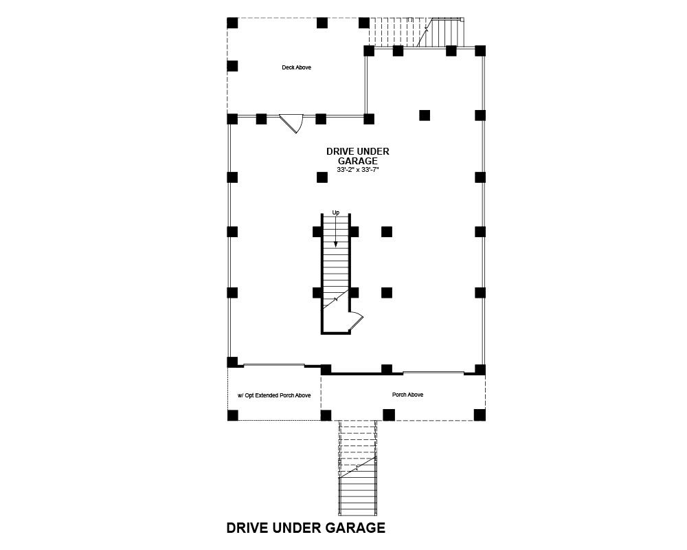 Main floor plan for Drive Under Garage
