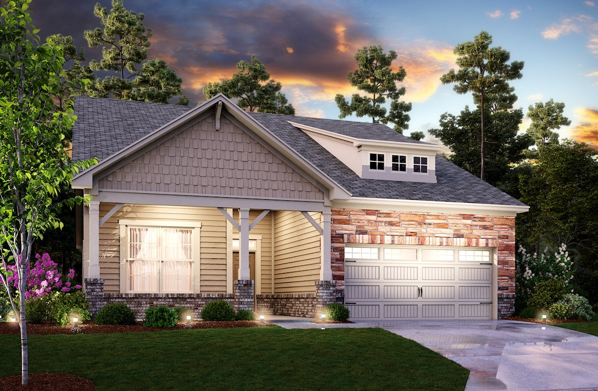Ranch style home front elevation