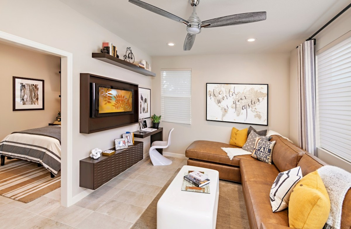 Aurora Heights Torrey Bedroom 4 suite features a separate sitting area