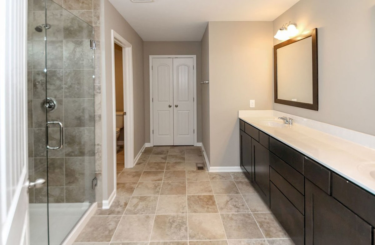 Lawrence quick move-in Spacious master bath with dual vanities