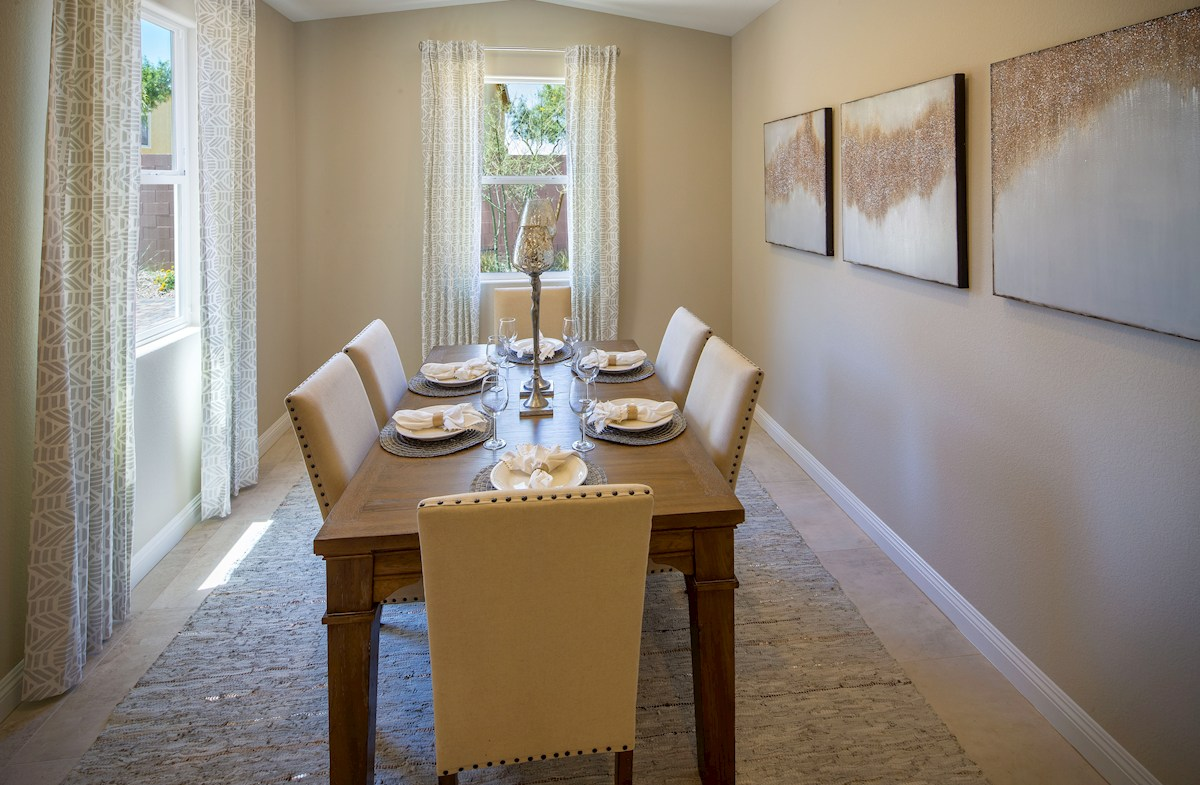 formal dining room in the Summit