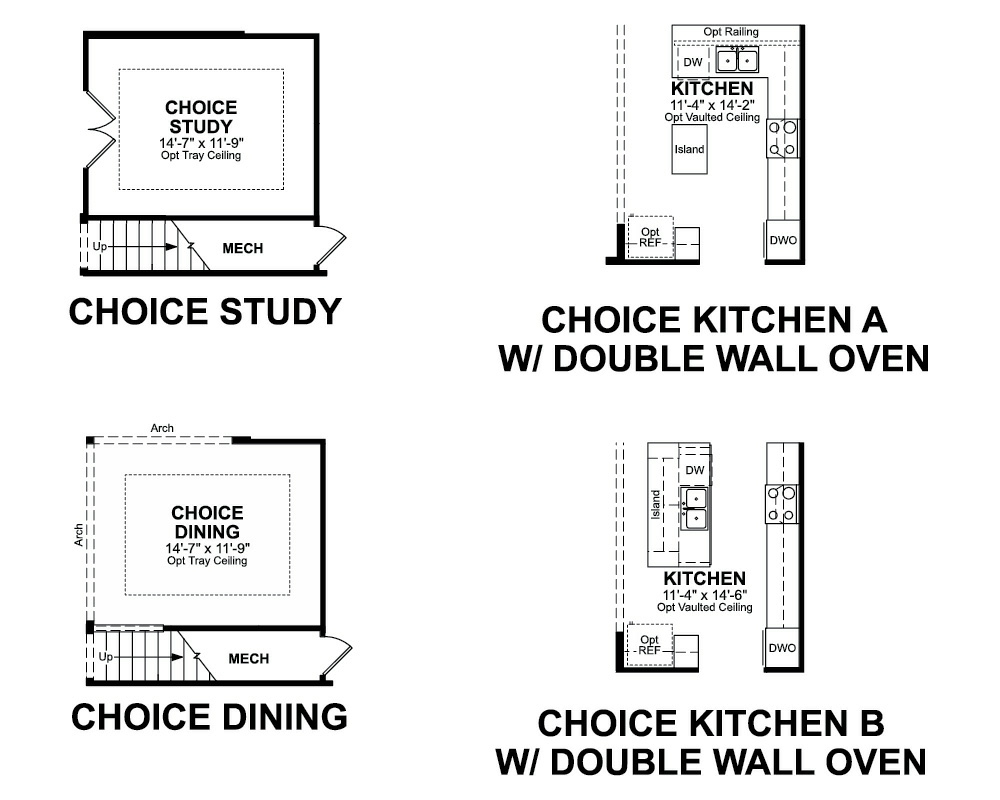 Choice options for 1st Floor