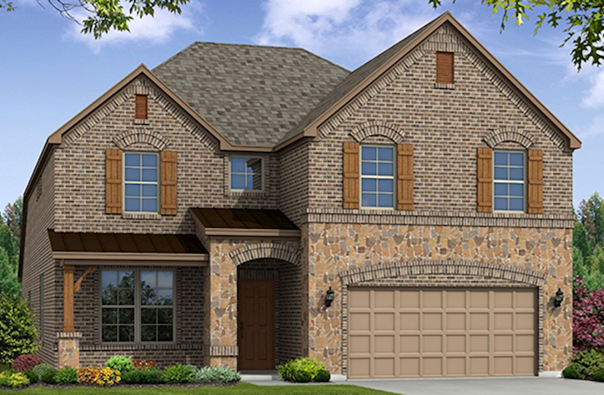 Blackburn home plan in lakes of prosper prosper tx for Blackburn home