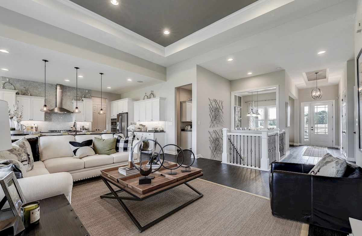 Hampshire Meridian Collection Delaware spacious great room with trey ceiling