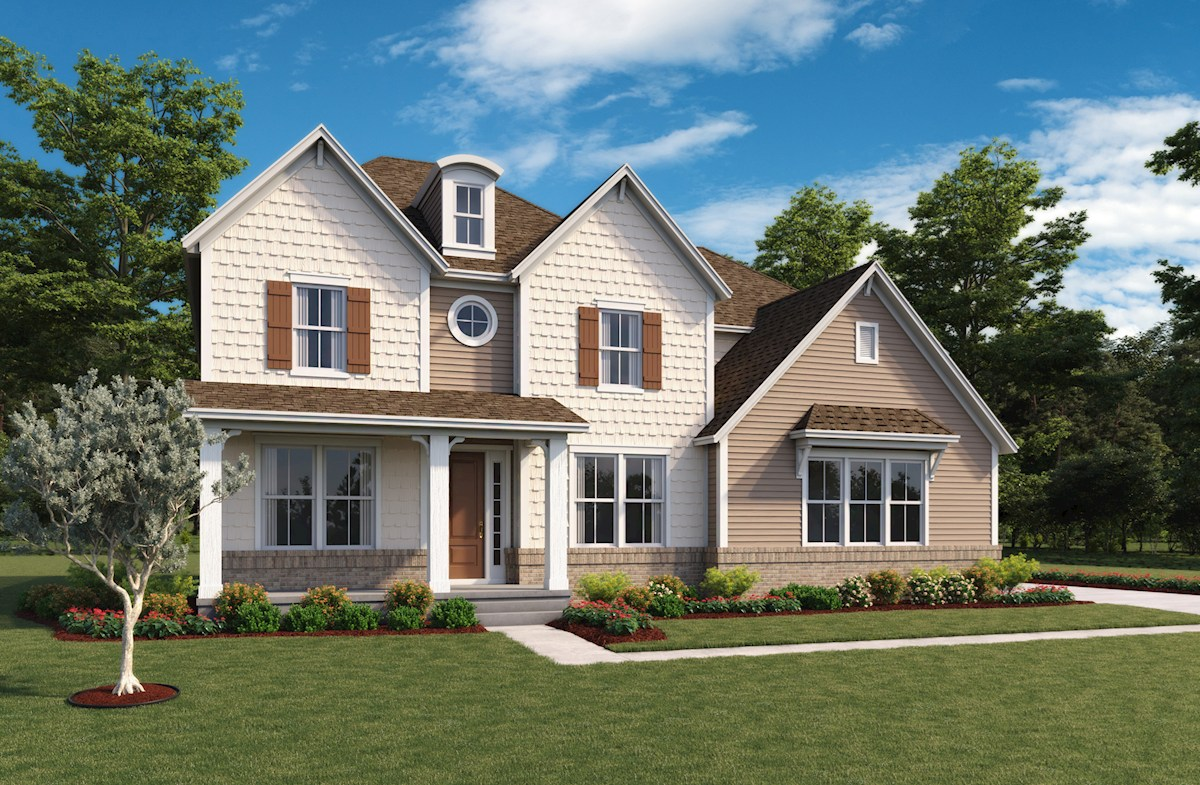 Oakhill Home Plan In Hampshire Meridian Collection Zionsville In Beazer Homes Beazer Homes
