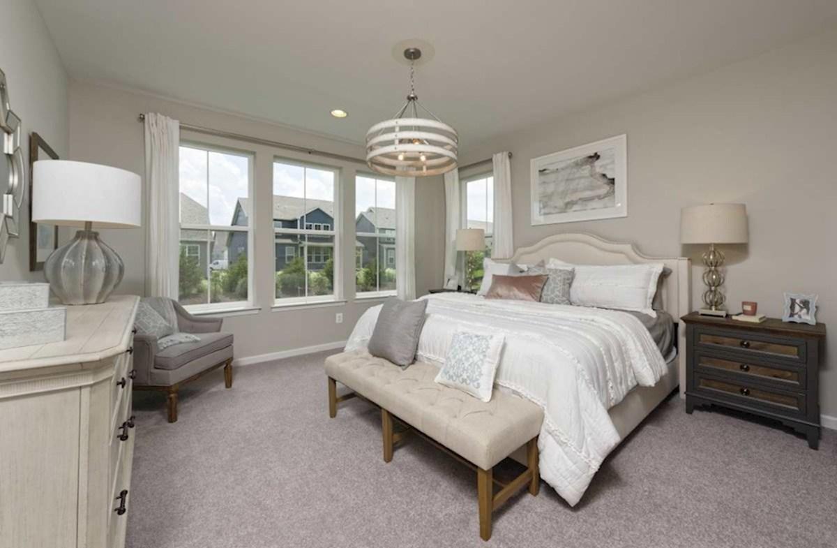 Bishop's Landing Magnolia Magnolia master suite with carpet