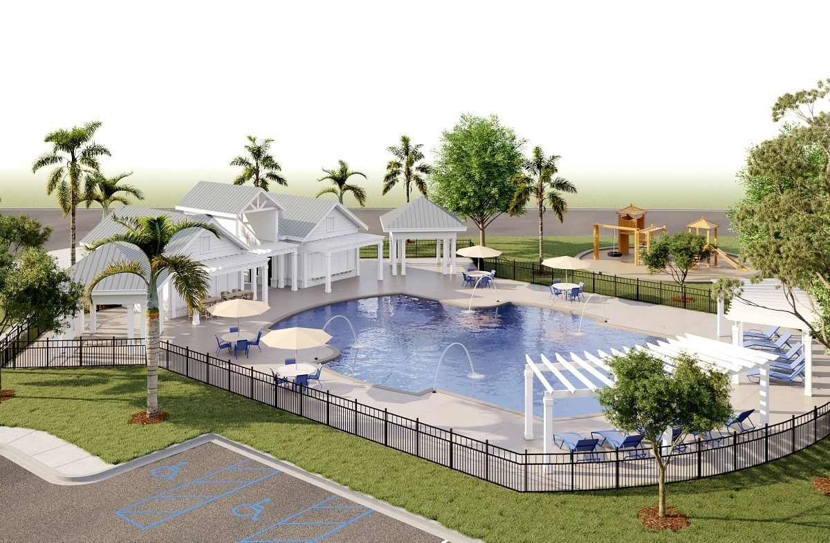 planned pool and playground